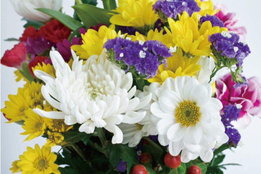 命日に贈るお供えのお花