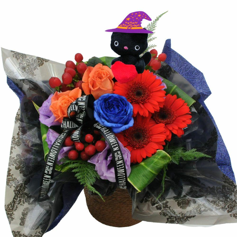 ひまわりの鉢花&日本酒「夏ザカリ」セット